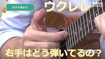 【ウクレレ】 右手はどう弾いてるの?