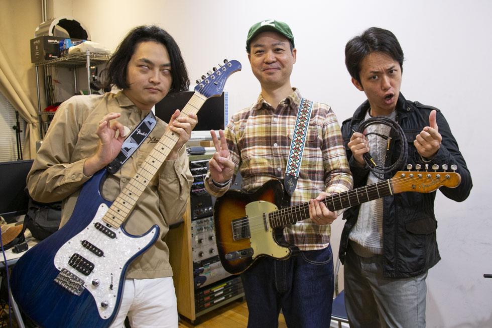 前回のレッスンの最後に、塩澤さん、先生、塩チョ(西村ヒロチョ)で記念撮影!