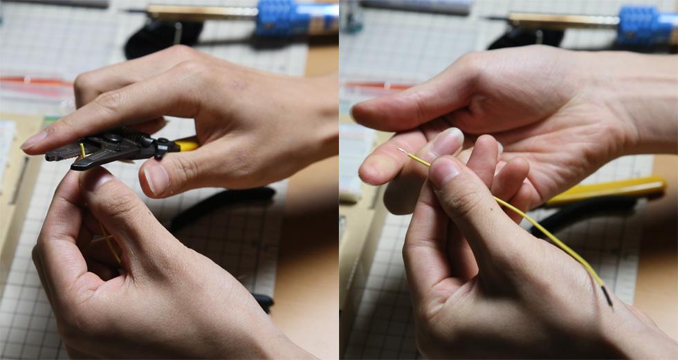 可変抵抗器をブレッドボードから離す(4)