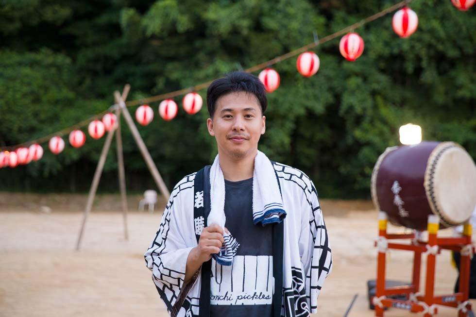 方城山神盆踊り大会を主催する大石勇介さん